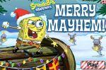 Игра Боб Губка защищается снежками  (Merry Mayhem SpongeBob Game)